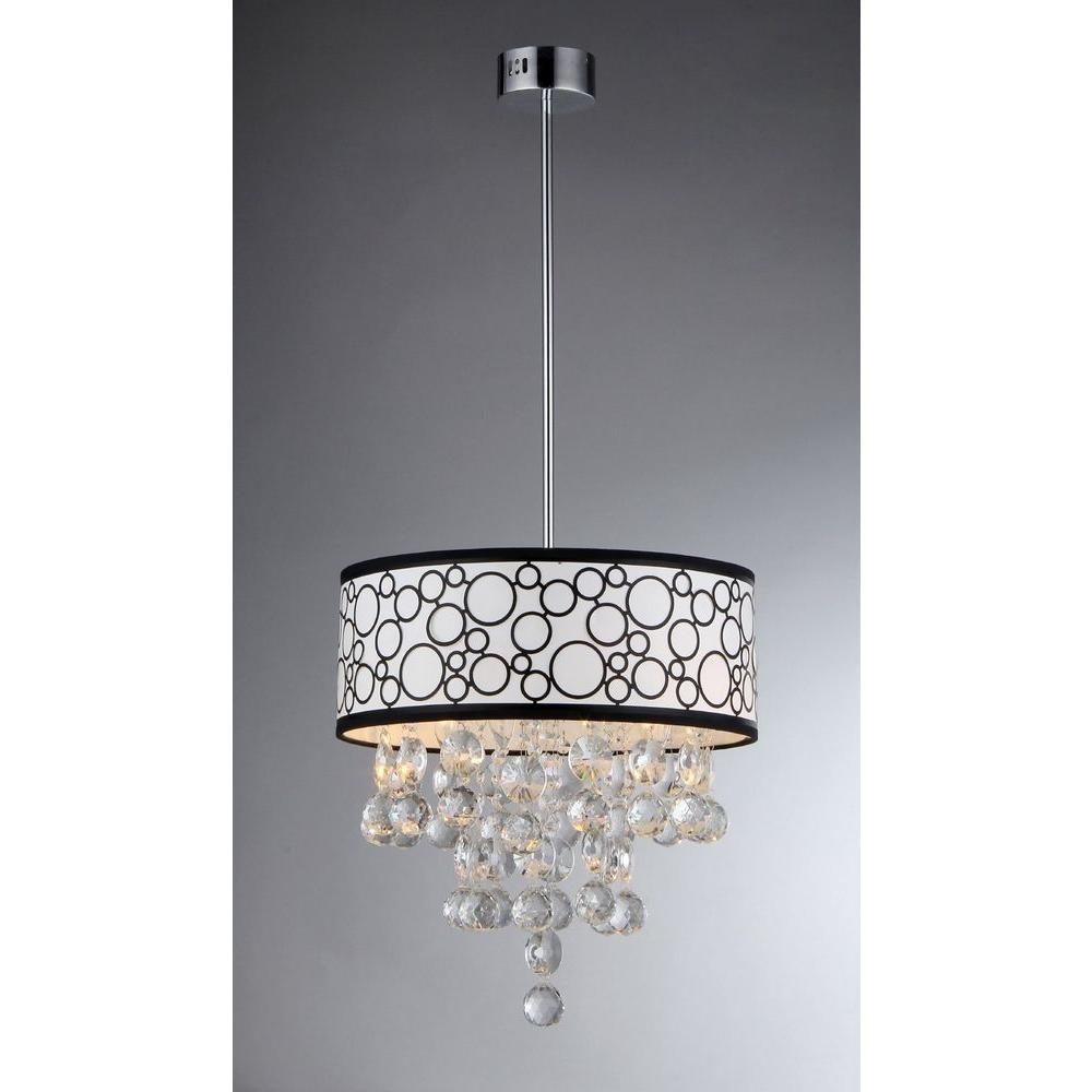 Warehouse Of Tiffany Adelaida 3 Light Chrome Crystal Chandelier For 3 Light Crystal Chandeliers (Image 20 of 25)