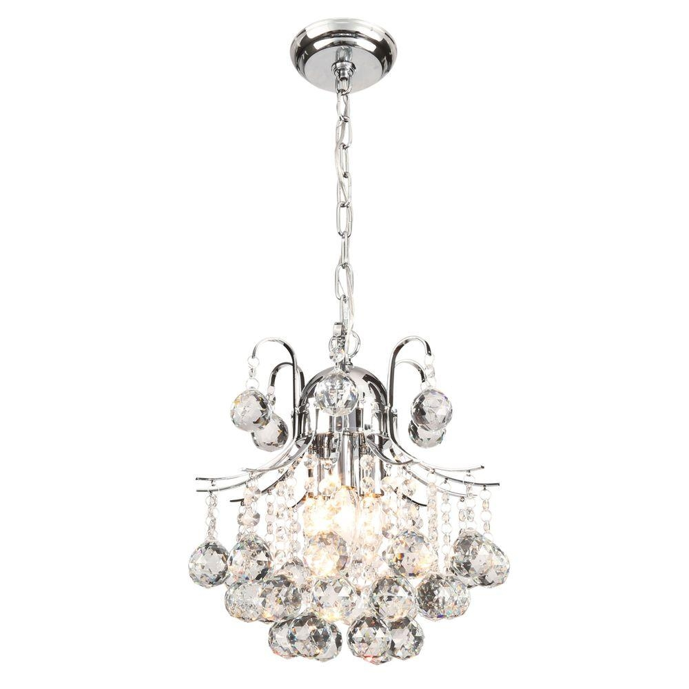 Warehouse Of Tiffany Arden Victorian 3 Light Crystal Chrome Inside Crystal Chrome Chandeliers (Image 21 of 25)