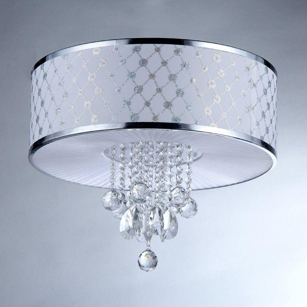 Warehouse Of Tiffany France 5 Light Silver Chrome Crystal For 7 Light Chandeliers (Image 24 of 25)