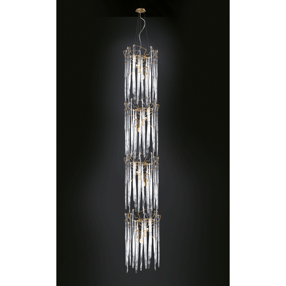 Waterfall Chandelier Cylindrical Serip America Intended For Waterfall Chandeliers (Image 21 of 25)