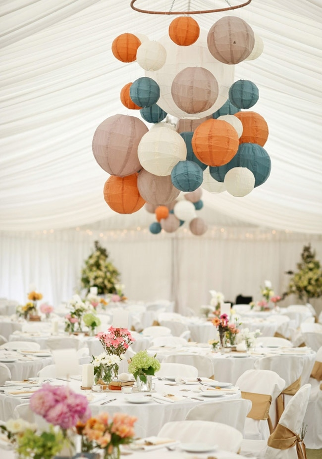 Wedding Reception Ideas With Lanterns Hula Hoop Within Turquoise Lantern Chandeliers (View 23 of 25)