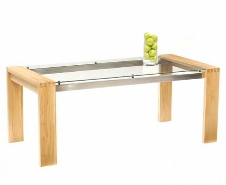 Where To Buy Glass Dining Table With Regard To Glass Oak Dining Tables (View 5 of 20)
