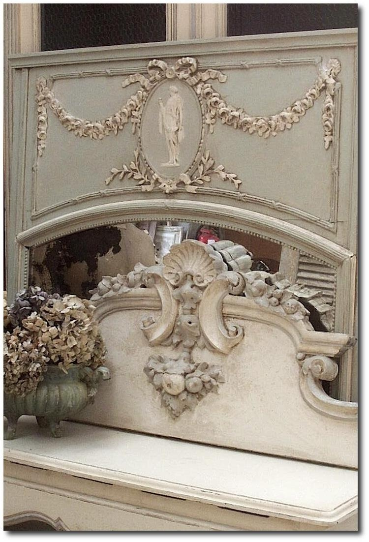 White And Cream French Furniture In French Mirrors Antique (Image 20 of 20)