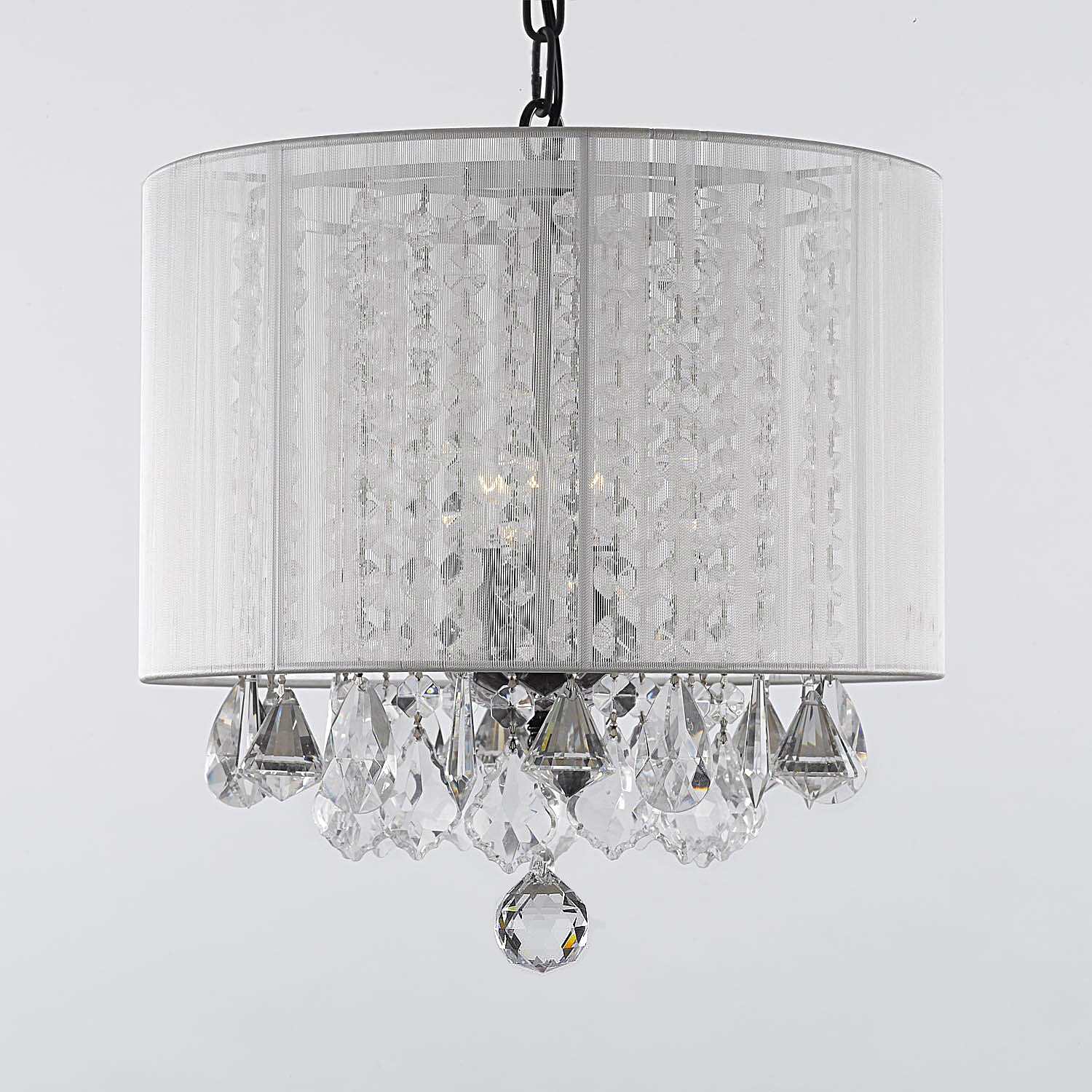 White Chandelier Lamp Shades Lamps Shades With Regard To Chandelier Light Shades (View 12 of 25)