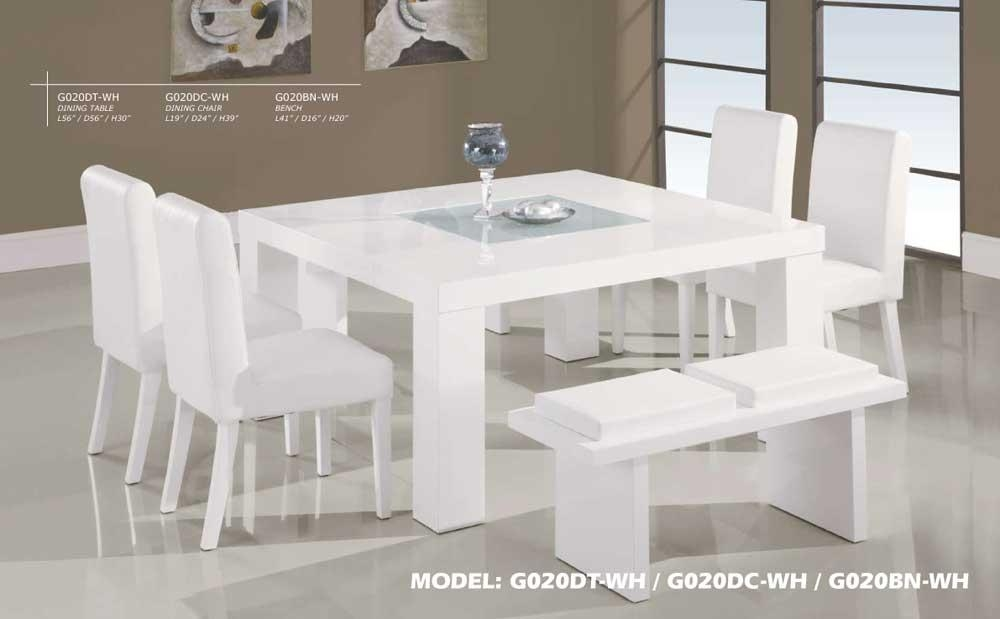 White Dining Room Table And 6 Chairs Throughout White Dining Tables And 6 Chairs (Image 15 of 20)