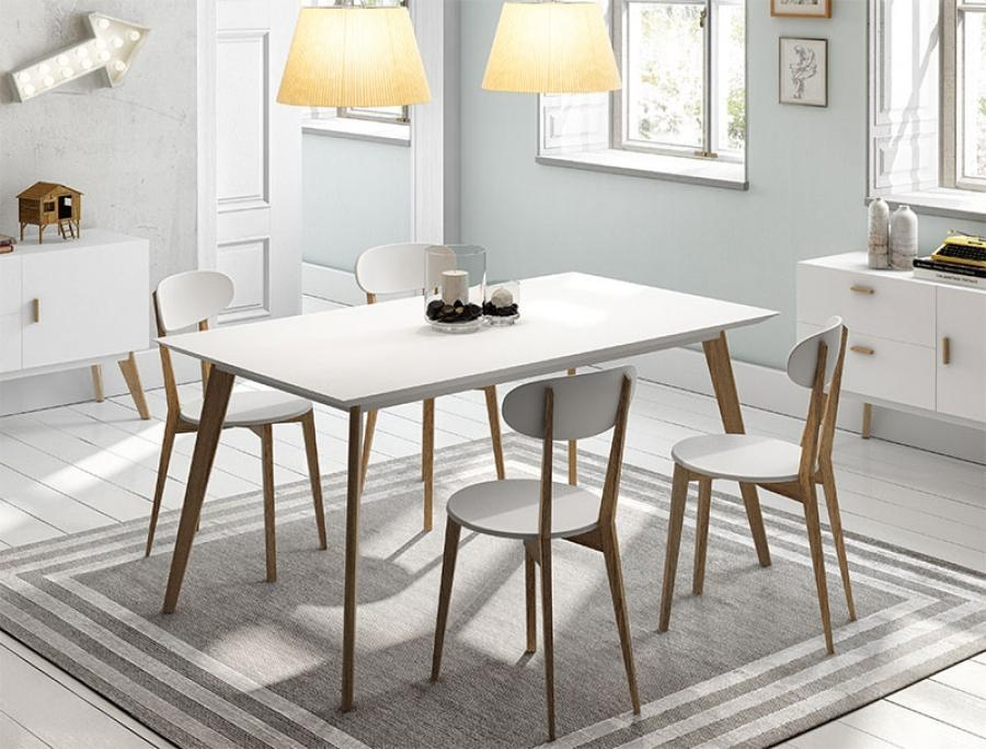 dining tables with white legs and wooden top | dining room ideas
