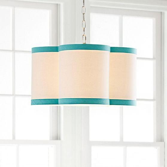 White Drum Pendant For Turquoise Drum Chandeliers (Image 23 of 25)