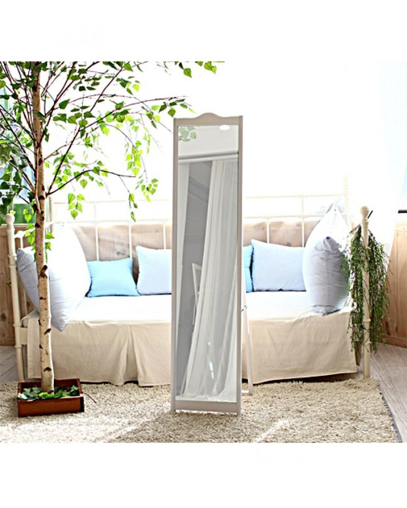 White – Elegant Freestanding Dressing Mirror Pertaining To Dressing Mirrors Free Standing (Image 20 of 20)
