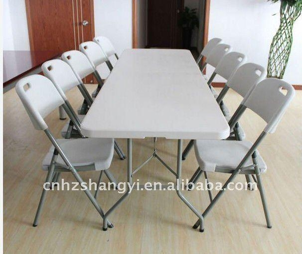 White Folding Dining Table Pertaining To Folding Dining Table And Chairs Sets (View 19 of 20)