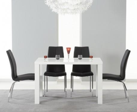 White Gloss Dining Table And Chairs Regarding White Gloss Dining Tables (Image 19 of 20)
