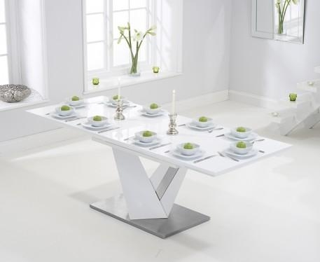 White High Gloss Extending Dining Table With Regard To Extending White Gloss Dining Tables (View 5 of 20)