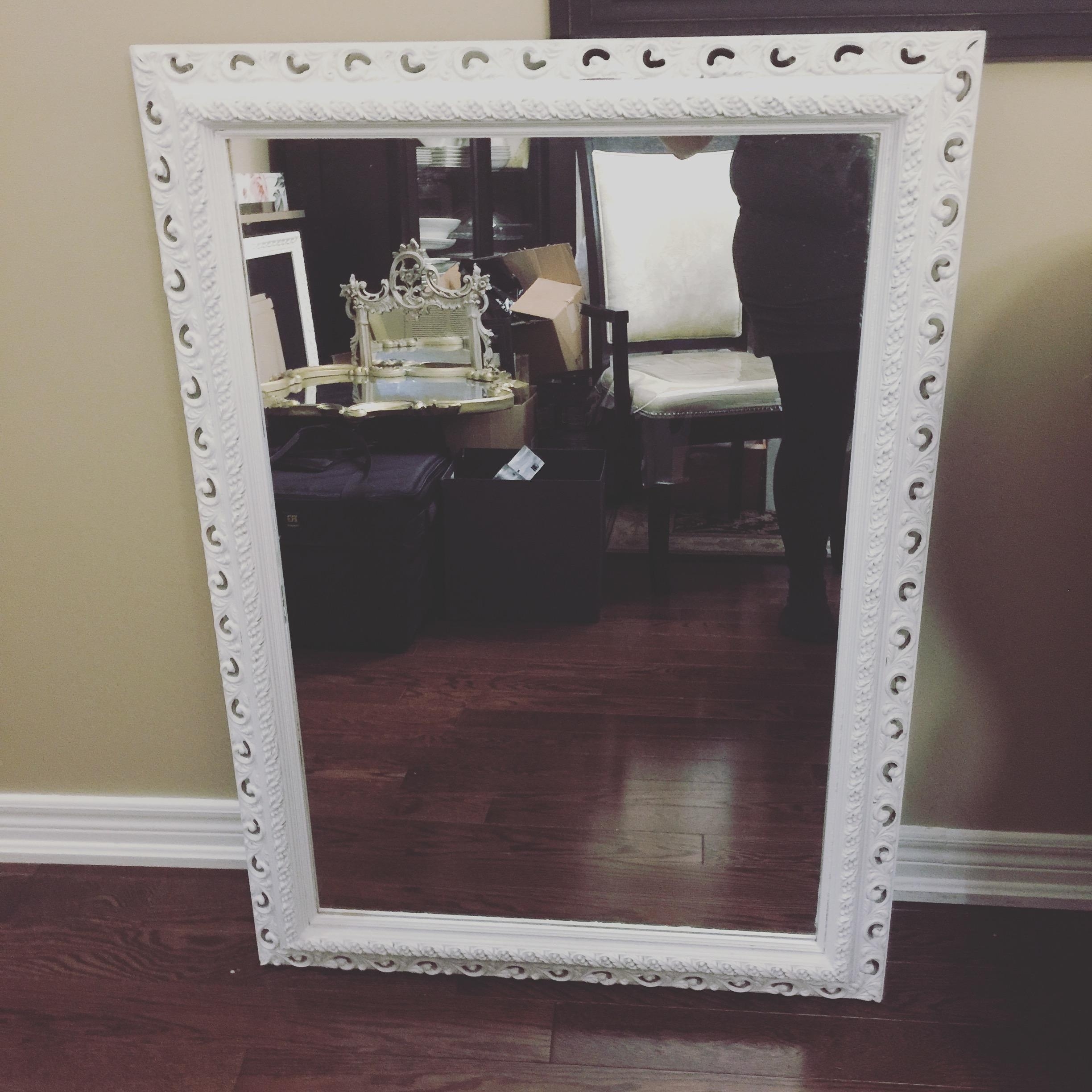 White Large Shabby Chic Mirror | Seating Chart | Vintagebash In Large Shabby Chic Mirror White (Image 19 of 20)