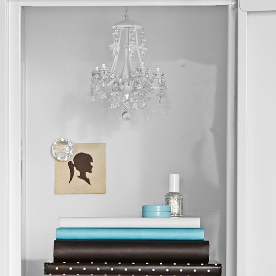 White Locker Chandelier Pbteen For Turquoise Locker Chandeliers (Image 24 of 25)