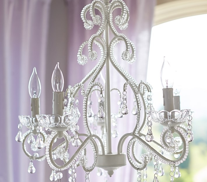 White Lydia Chandelier Pottery Barn Kids Pertaining To Chandeliers For Kids (View 6 of 25)