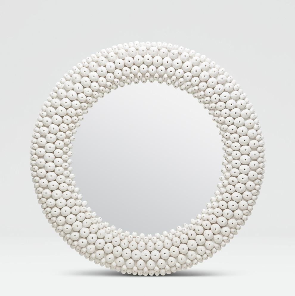 White Mirrors | My Collections | Mecox Gardens In Round White Mirror (Image 20 of 20)