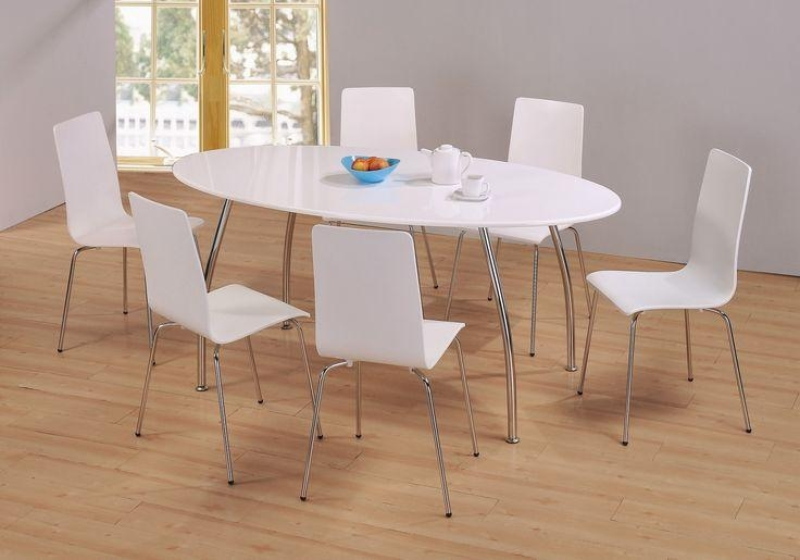 White Oval Dining Tables – Go To Chinesefurnitureshop For Even Throughout White Dining Tables And 6 Chairs (View 11 of 20)