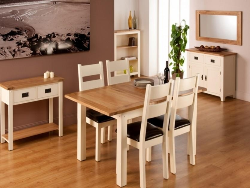 White Pine Extended Kitchen Table Set Design Square Extending Pertaining To Square Extendable Dining Tables And Chairs (Image 20 of 20)