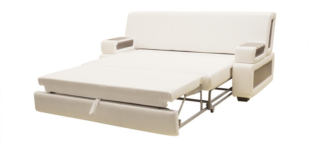 White Pull Out Sofa Bed Within Sofa Beds With Mattress Support (View 20 of 20)