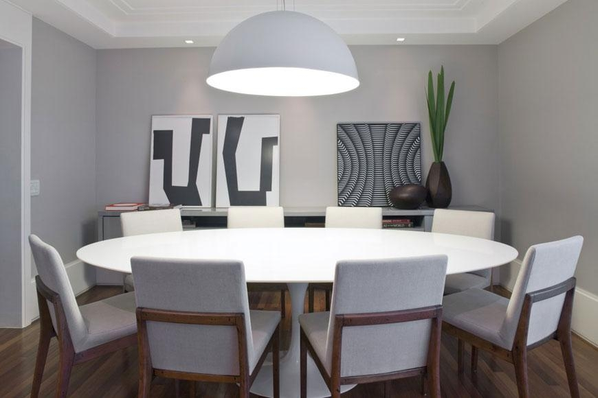 White Round Dining Room Tables | Home Design Ideas Inside Large White Round Dining Tables (Image 15 of 20)