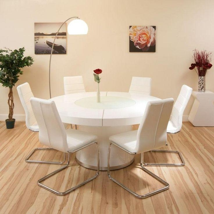 White Round Dining Room Tables | Home Design Ideas With White Circle Dining Tables (Image 16 of 20)