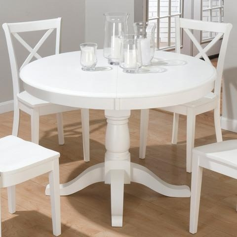 White Round Dining Table Set Regarding Large White Round Dining Tables (Image 19 of 20)