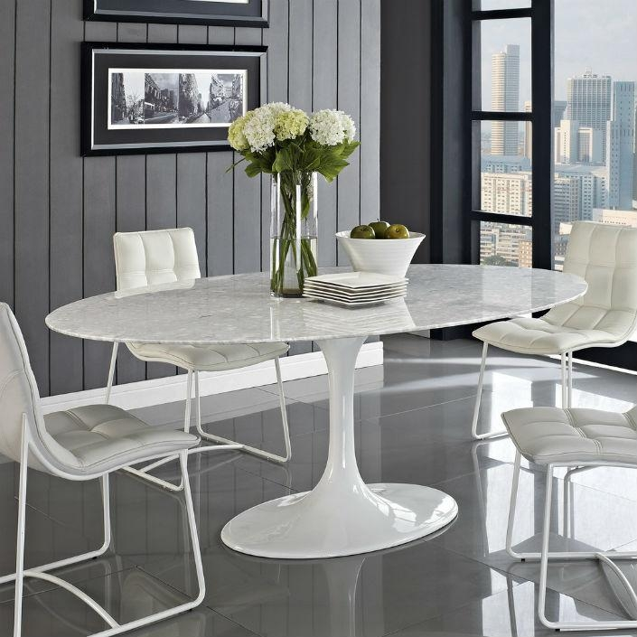 White Round Dining Table Within Sleek Dining Tables (Image 20 of 20)