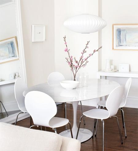 White Round Kitchen Table (Image 19 of 20)