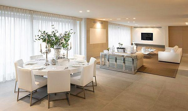 White Round Table Design Ideas For Extravagant Look Of Your Dining Throughout Large White Round Dining Tables (Image 20 of 20)