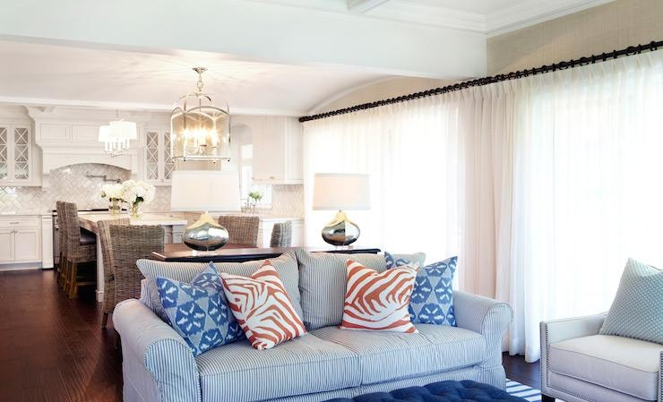 White Stripe Sofa Design Ideas With Regard To Blue And White Striped Sofas (Photo 19 of 20)