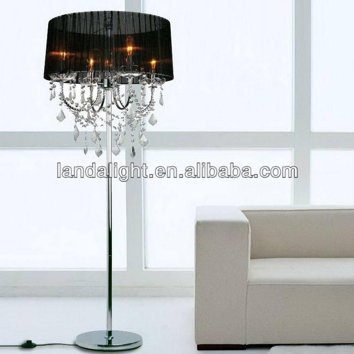 Wholesale Best Selling Modern Crystal Chandelier Floor Lamp With Regard To Crystal Chandelier Standing Lamps (Image 25 of 25)
