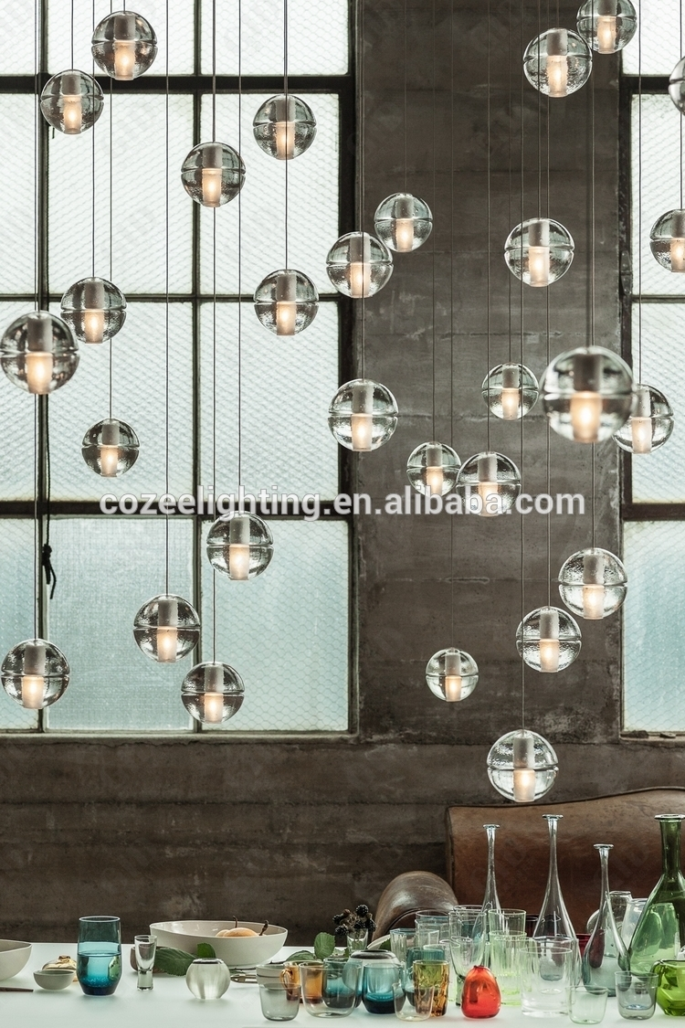 Wholesale Modern Led Glass Bubble Crystal Chandelier Pendant Inside Turquoise Bubble Chandeliers (Image 25 of 25)