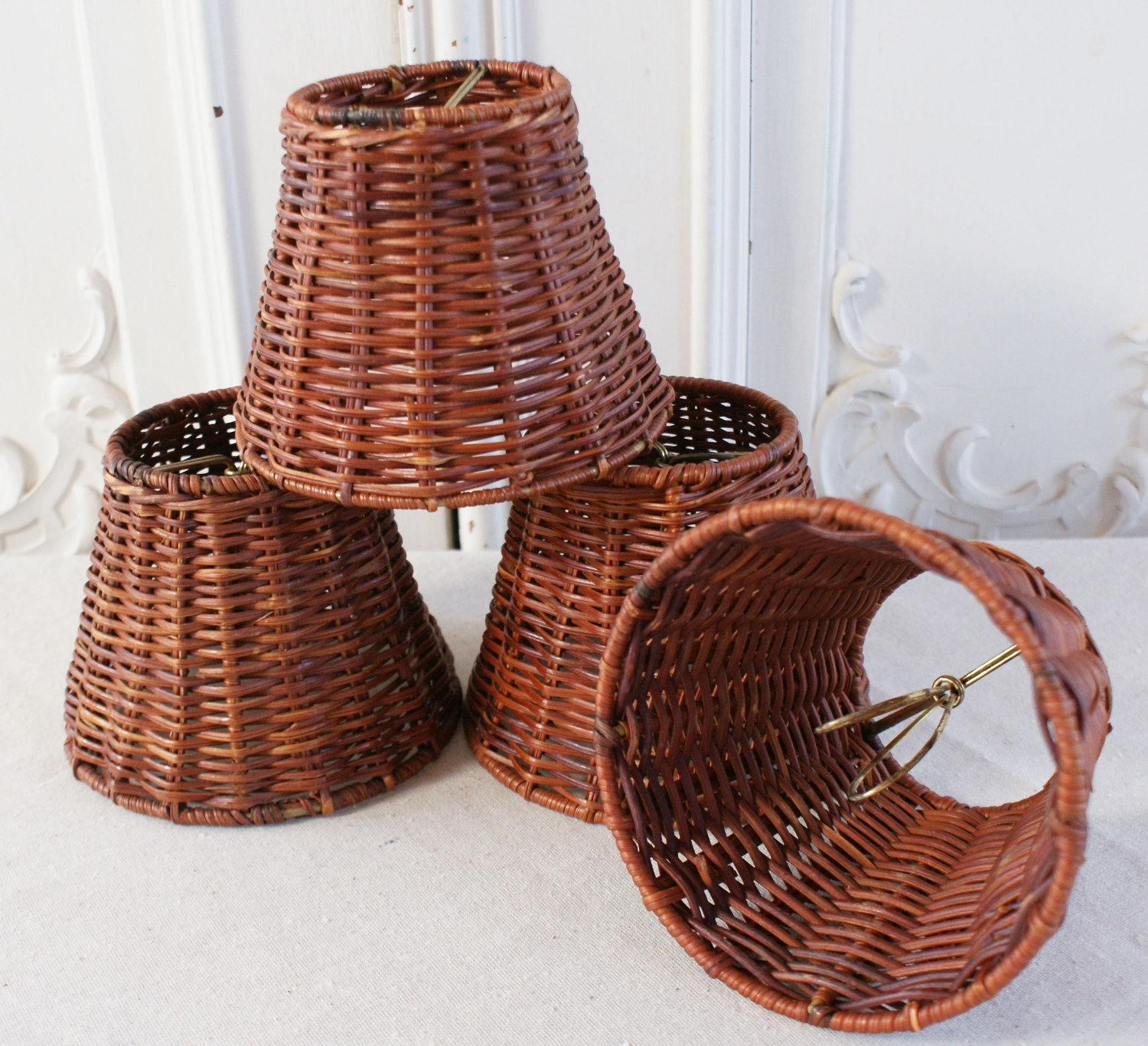 Wicker Chandelier With Lamp Shades Very Awesome Lamp Shade Intended For Chandeliers With Lamp Shades (Image 25 of 25)