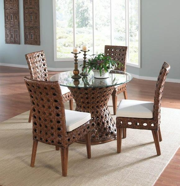 Wicker Dining Chairs And Indoor Wicker Dining Room Chairs – Home In Rattan Dining Tables And Chairs (Image 19 of 20)