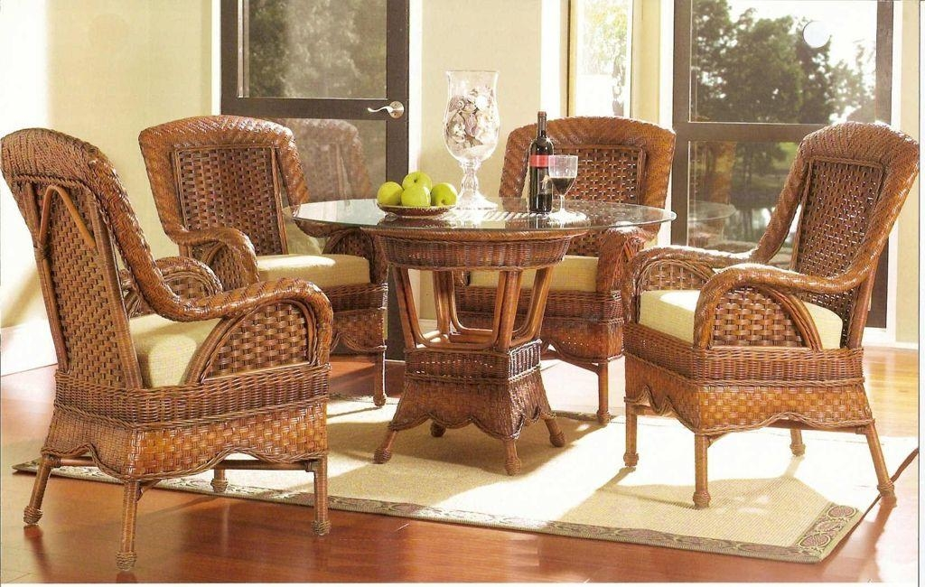 Wicker Dining Room Chairs (Image 20 of 20)