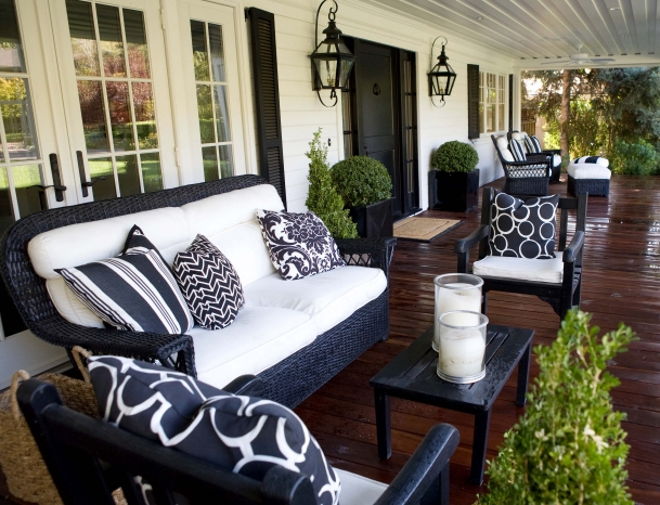 Wicker Outdoor Sofa Design Ideas Regarding Black Wicker Sofas (Image 19 of 20)