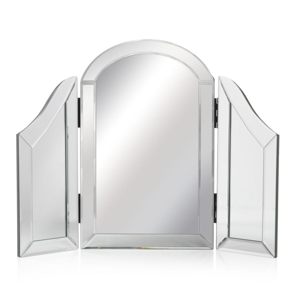 Wilko All Glass Dressing Table Mirror 43.5 X (View 2 of 20)