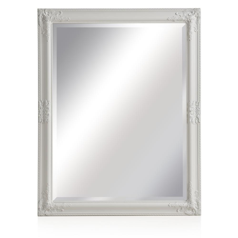 Wilko Rococco Mirror Large White 76 X 96Cm At Wilko Pertaining To White Rococo Mirror (Image 20 of 20)