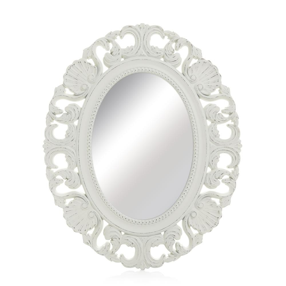 Wilko Vintage Ornate Oval Mirror 44 X 54Cm At Wilko Pertaining To Ornate Oval Mirrors (Image 20 of 20)
