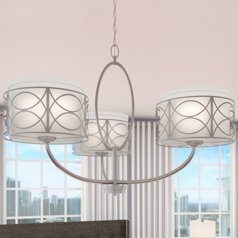 Willa Arlo Interiors Helina 3 Light Drum Chandelier Reviews Regarding Turquoise Drum Chandeliers (Image 25 of 25)
