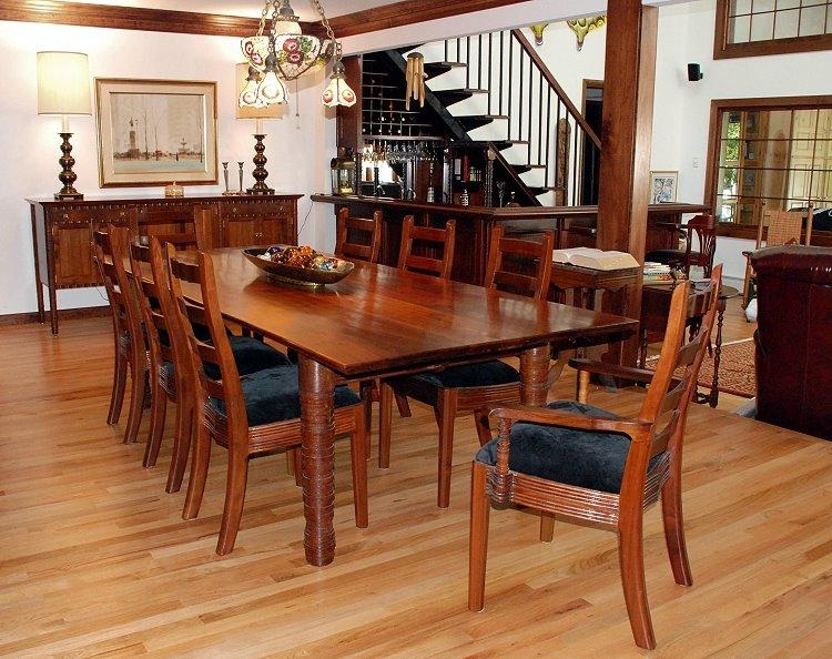 William Robbins Furniture Maker Inside Walnut Dining Tables And Chairs (Image 20 of 20)