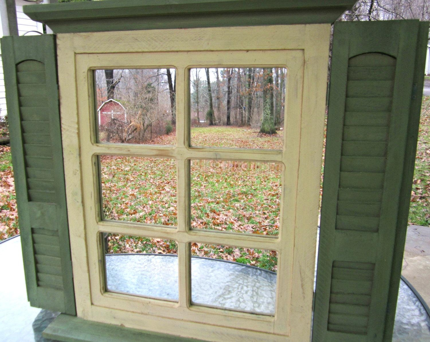 Window Mirror With Shutters – Harpsounds (Image 11 of 20)
