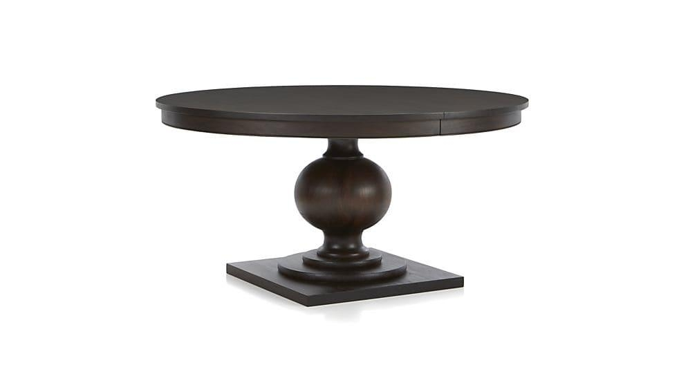 "Winnetka 60"" Round Dark Mahogany Extendable Dining Table 