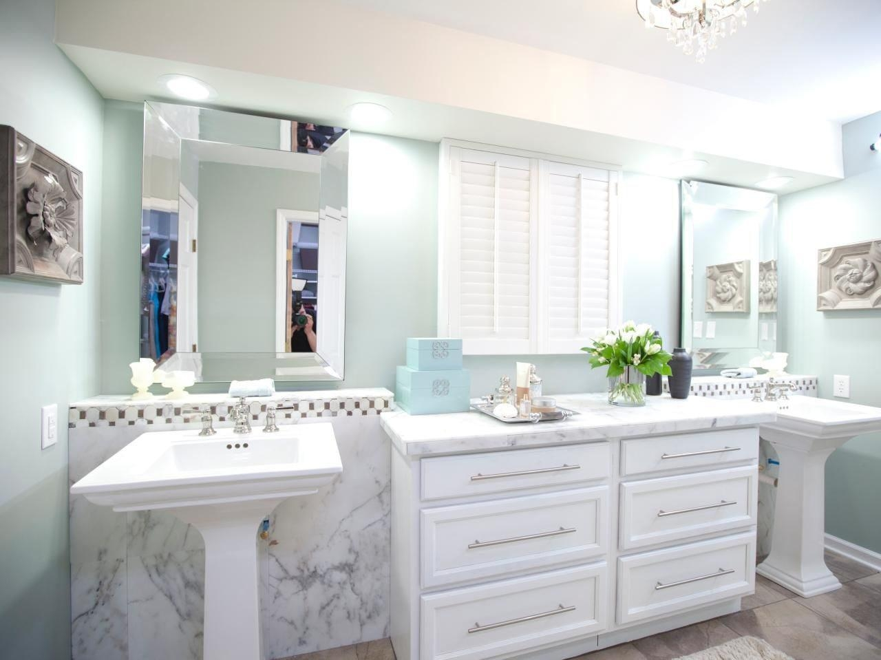 Wonderful Bathroom With Walk In Shower And Ornate Wooden Mirror Regarding Ornate Bathroom Mirror (View 20 of 20)
