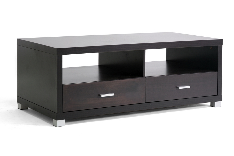 Wonderful Best Black TV Stands Pertaining To Baxton Studio Derwent Modern Tv Stand W Drawers (Image 41 of 50)