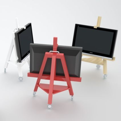 Wonderful Best Easel TV Stands For Flat Screens Regarding 8 Best What To Do With Tv Images On Pinterest Easels Flat (View 26 of 50)