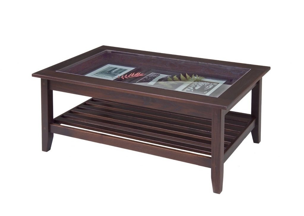 Wonderful Best Large Wood Coffee Tables Regarding Bear Coffee Table With Glass Cocinacentralco (Image 45 of 50)