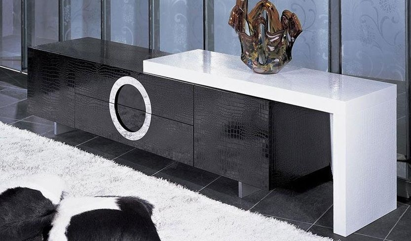 Wonderful Best Modern Plasma TV Stands Pertaining To Contemporary Tv Stand With Crocodile Texture Overland Park Kansas (View 36 of 50)