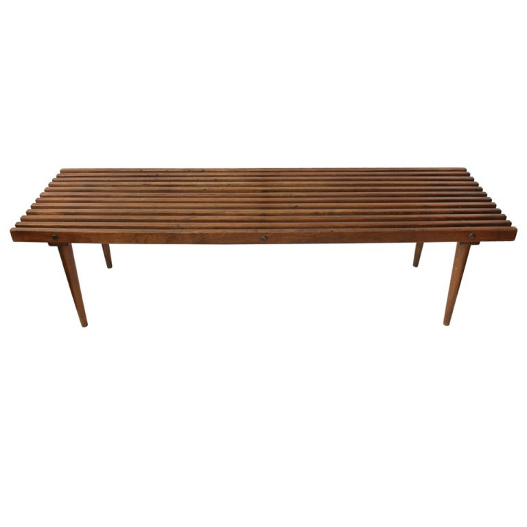 Wonderful Best Nelson Coffee Tables Regarding Mid Century George Nelson Style Wood Slat Benchcoffee Table At (Image 42 of 50)