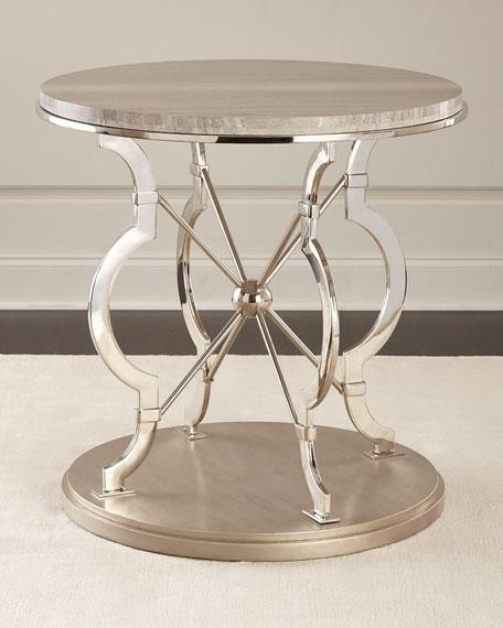 Wonderful Best Round Chrome Coffee Tables In Threshold Silver Metal Accent Brown Table With Wood Top (Image 48 of 50)