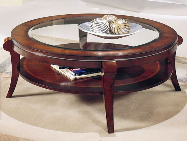 Wonderful Best Round Glass And Wood Coffee Tables For Wood Glass Coffee Table (Image 44 of 50)